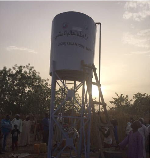 The MWL implements charitable projects in African villages. Wells are pumped using solar panels instead of customary methods to save costs.