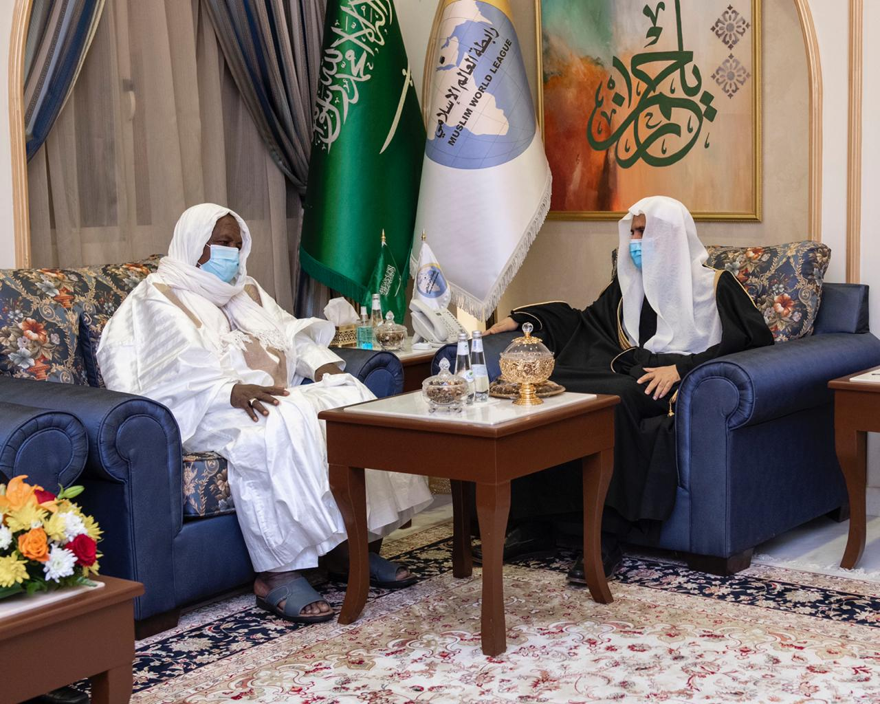HE Dr. Mohammad Alissa received His Eminence Mahmoud Dicko of Mali
