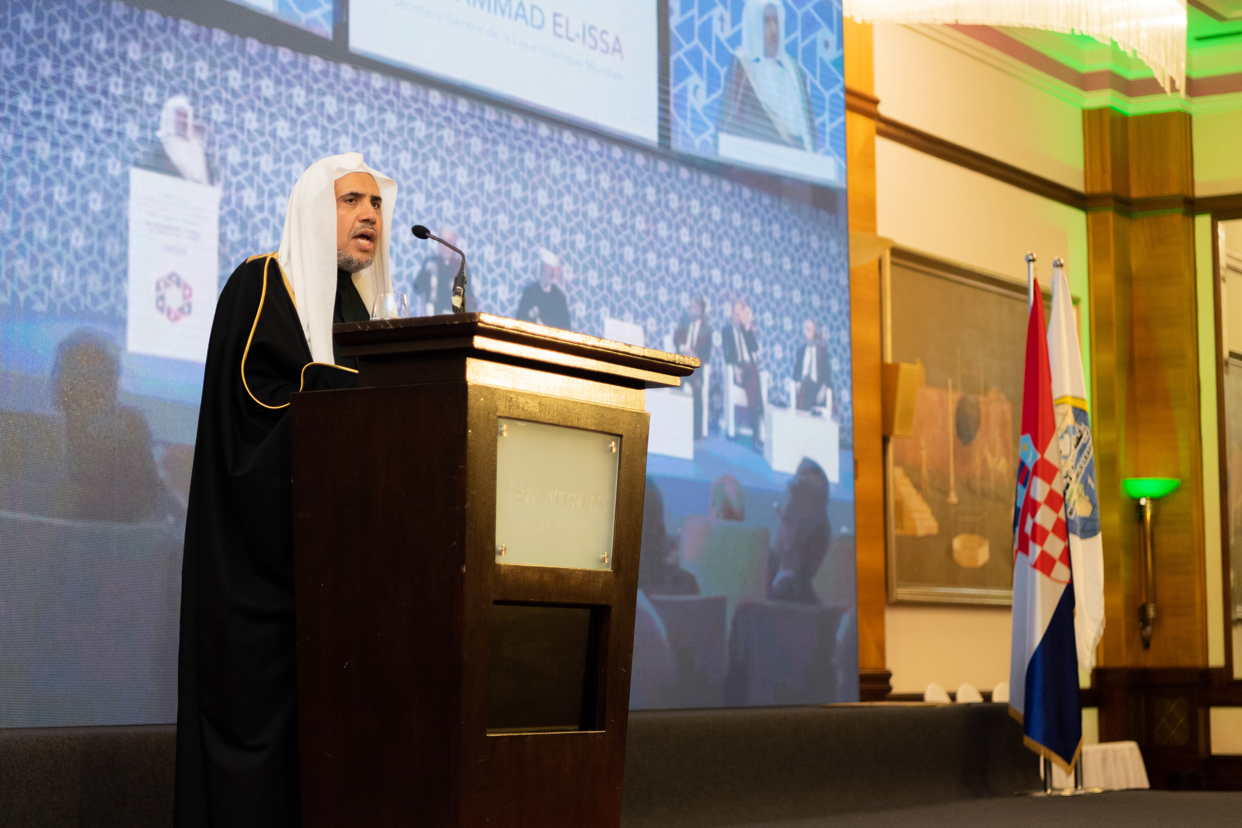 "HE Dr. Mohammad Alissa opened the MWL ""Conference on Human Brotherhood - the Basis for Security and Peace"""