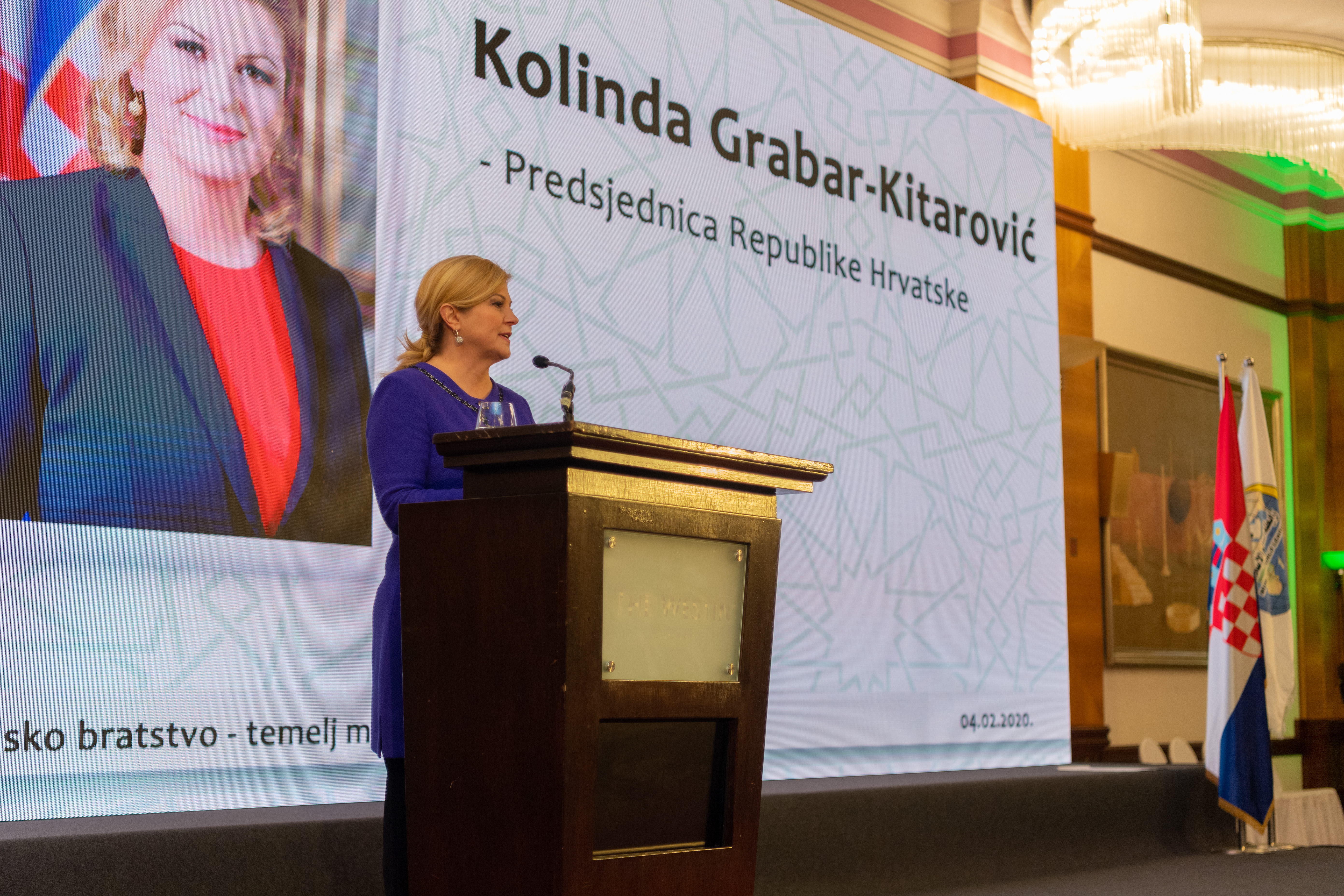 "The President of Croatia spoke at this week's MWL ""Conference on Human Brotherhood - the Basis for Peace and Security"""