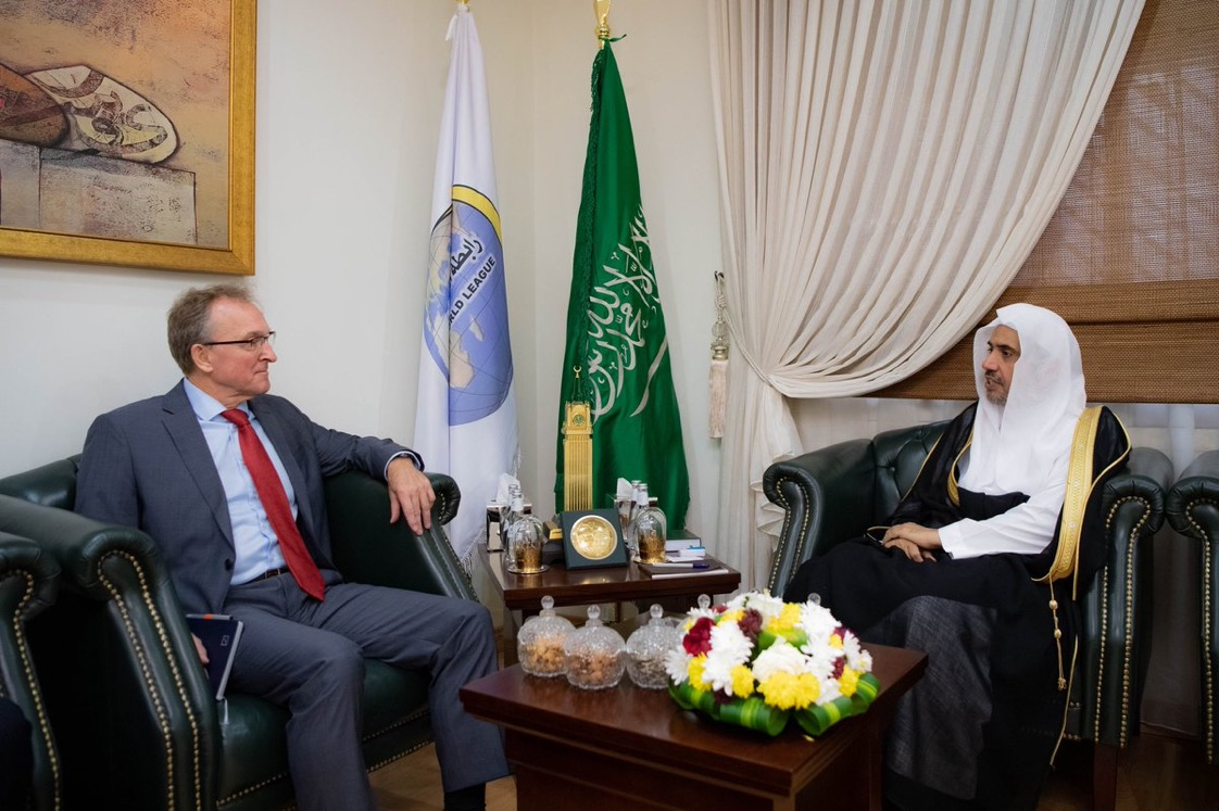 His Excellency the Muslim World League's Secretary General Sheikh Dr. Mohammad Alissa, received today the German Ambassador