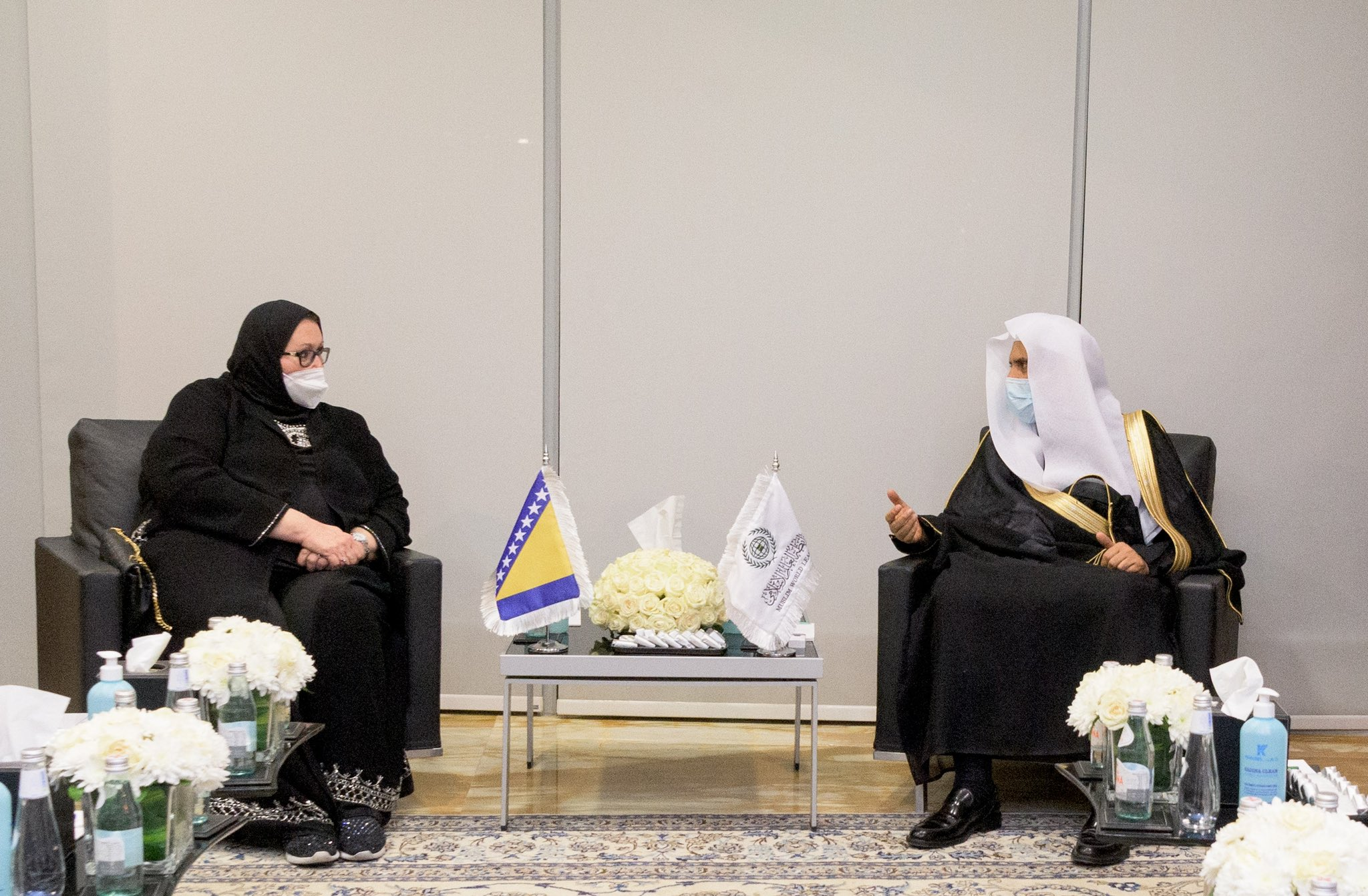 HE Dr. Mohammad Alissa welcomed Bisera Turkovic Minister of Foreign Affairs of Bosnia and Herzegovina