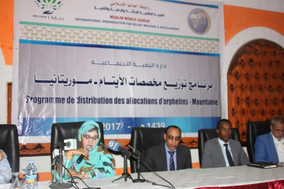 The MWL, through its subsidiary the International Association for Relief,  Care and Development, hands over allowance to 1567 orphans in Nouakchott,  Mauritania.