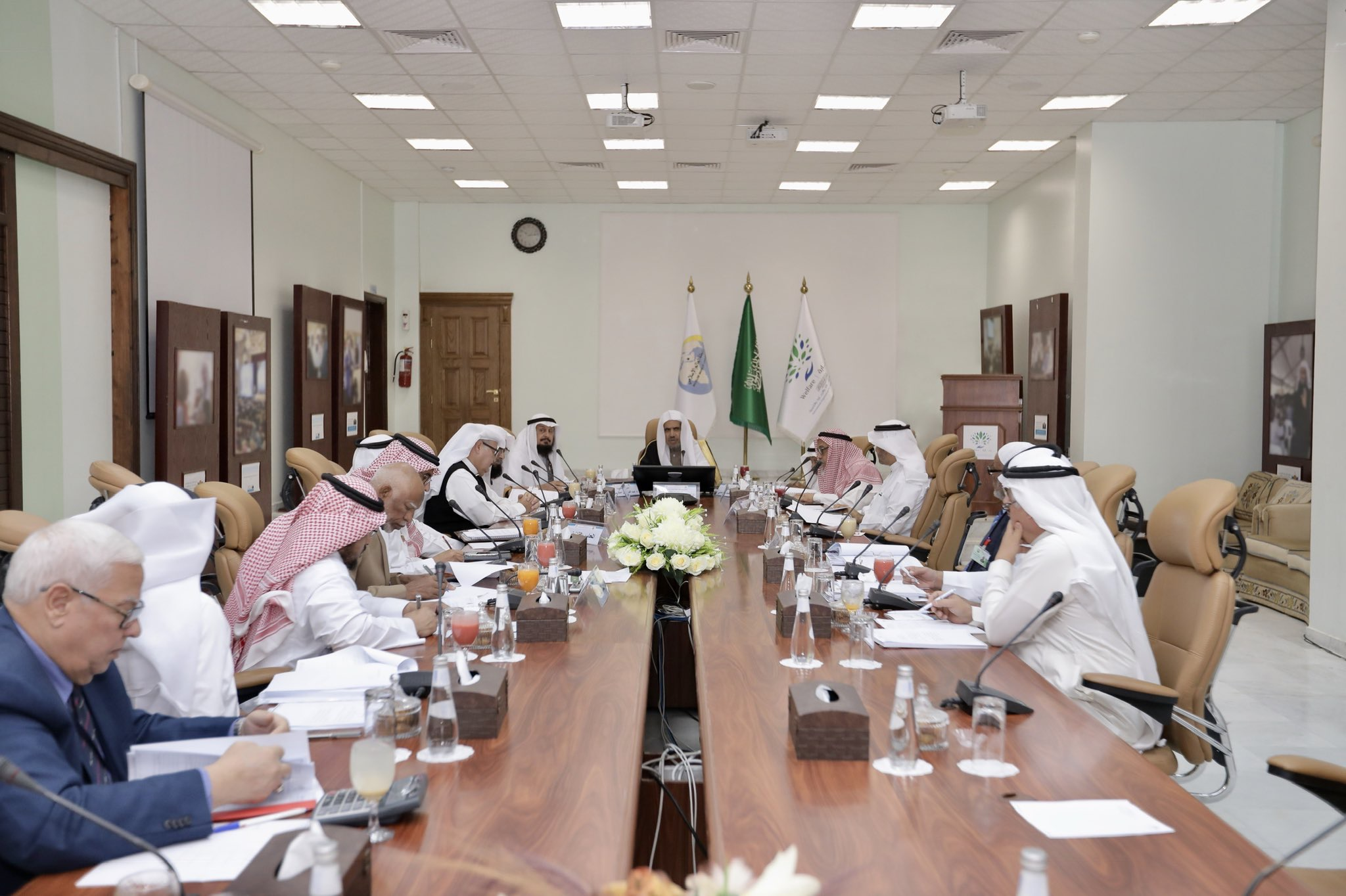 HE Sheikh Dr. Mohammad Alissa presides over the meeting of the Board of Directors of the International Organization for Relief Welfare and Development (IORWD) in the presence of the members of the Board of Excellencies and Eminences.