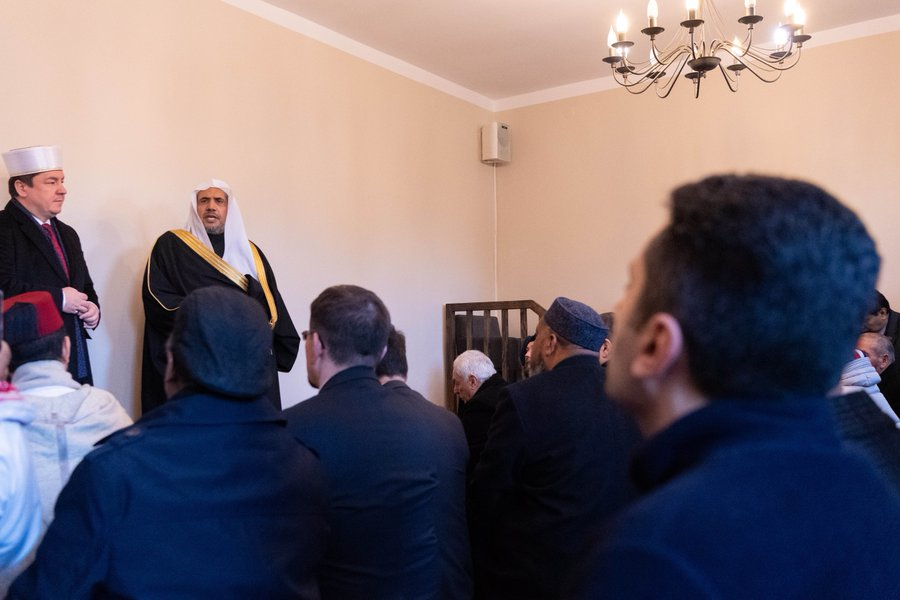 This afternoon HE Dr. Mohammad Alissa and the Grand Mufti of Poland addressed worshippers and Jewish delegates from AJCGlobal during a visit to Tatarska St. Mosque in Warsaw