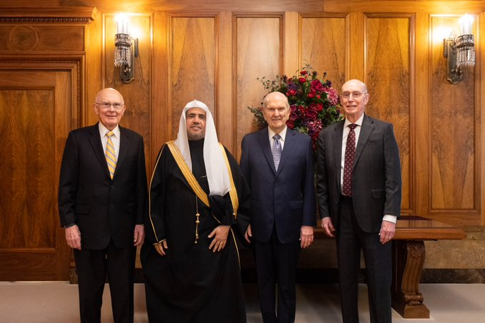 HE Dr. Mohammad Alissa met with the First Presidency of the LDS church in Salt Lake City, Utah