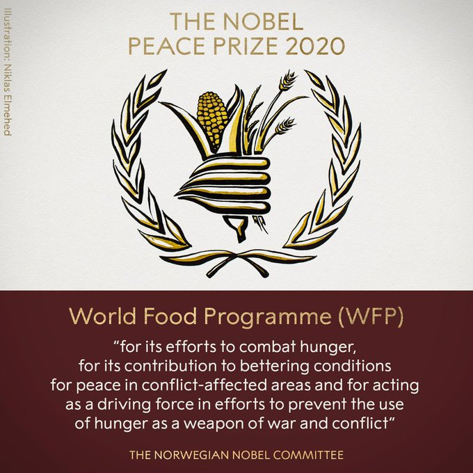 Congratulations to our partners in addressing food insecurity & hunger around the world