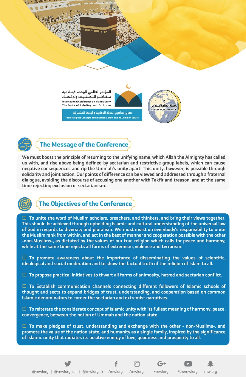 Message & objectives of the unity conference