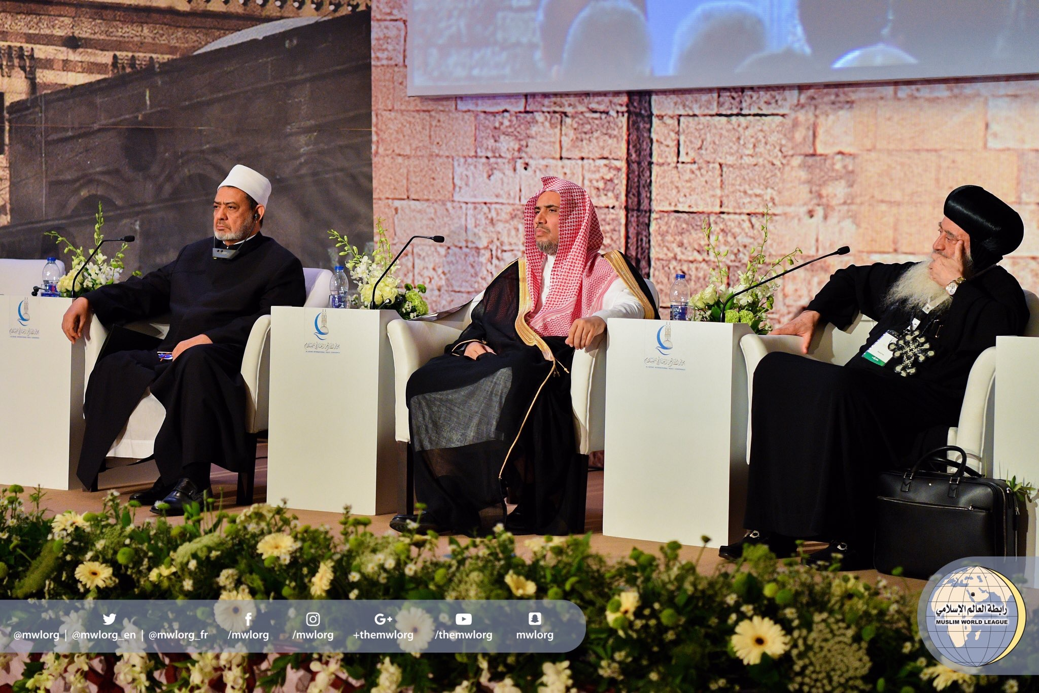 "HE the MWL's SG delivering his speech@ the opening of ""Al-Azhar's International  Peace Conference"" held in Cairo Thursdsy morning."