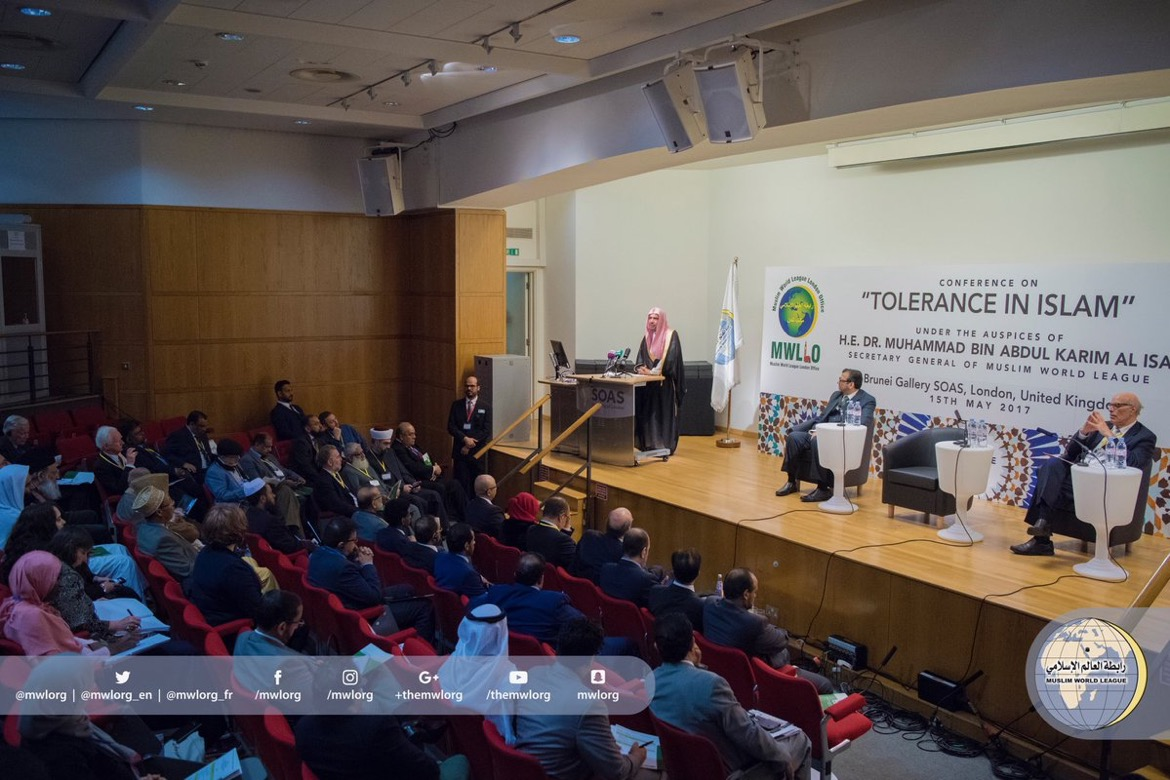 Intl diversified attendance is noticed at MWL Conference on Peace in Islam hosted by London University, attended by senior diplomats