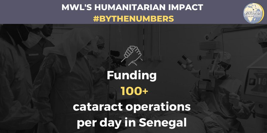 MWL funds cataract operations in Senegal and across the continent of Africa