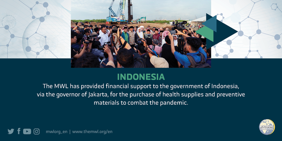 The MWL provided financial support to Indonesia to purchase health supplies & preventive materials to combat the coronavirus pandemic