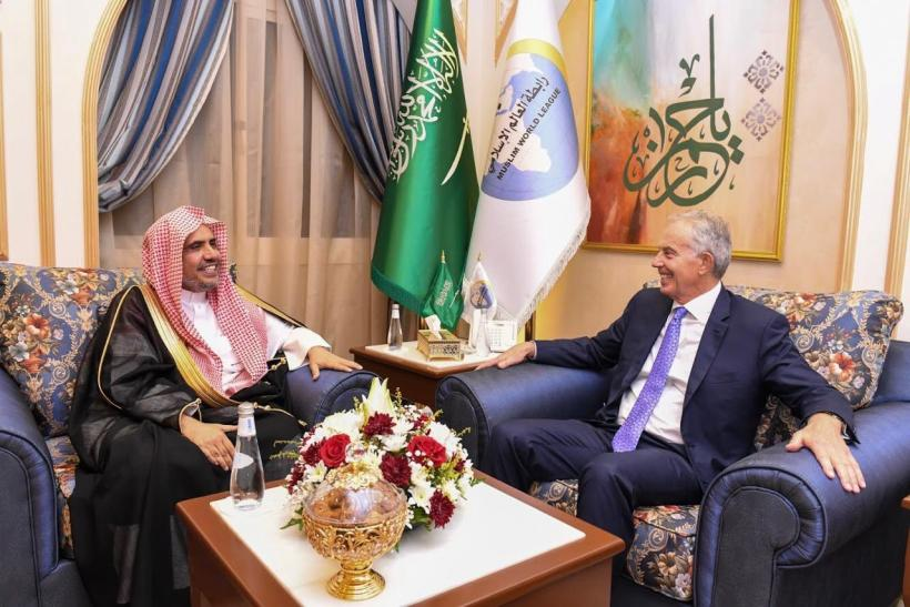 HE Dr. Mohammad Alissa met with former British Prime Minister Tony Blair at the Muslim World League office in Jeddah