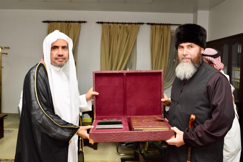 Dr. Al-Issa Signs a Cooperative Agreement with the Grand Mufti of the Chechen Republic