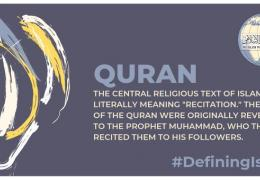 The Quran is the central religious text in Islam