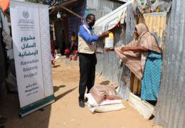 The MWL in Somalia distributed food baskets as part of the annual  Muslim World League Ramadan Baskets Project