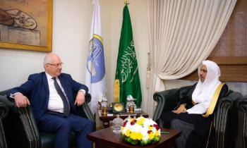 HE the MWL's Secretary General, Sheikh Dr. Mohammad Alissa met this morning HE, the Advisor of Religious Affairs of France