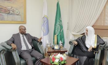 His Excellency the Secretary-General of the Muslim World League Dr. Mohammad Alissa meets at his office, the Ambassador of the Republic of Burundi Mr. Issa Mousa, during the meeting they discussed issues of mutual interest.