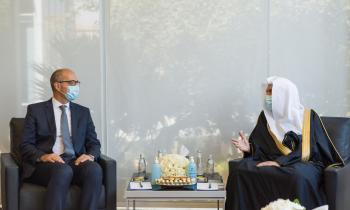 HE Dr. Mohammad Alissa met with Mr. Philippe Errera