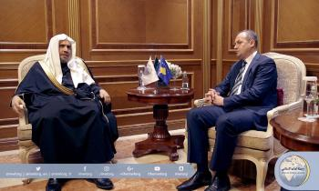 His Excellency the MWL's SG meets His Excellency Kosovo's Foreign Minister Mr. Enver Hoxhaj in Pristina.