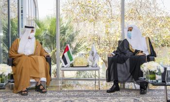 HE Dr. Mohammad Alissa met with  HE Sheikh Shakhbout bin Nahyan Al Nahyan, UAE Ambassador to Saudi Arabia