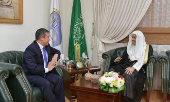 HE the SG Sheikh Dr. Mohammed Alissa, met in his office Mr. Batyrshayev, the Kazakh Ambassador to KSA