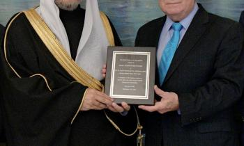 The National Council on U.S.-Arab Relations confers the World Peace among Religions Award on HE Sheikh Dr. Mohammad Alissa