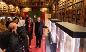 This week, HE Dr. Mohammad Alissa visited the historic Ambrosian Library Ambrosiana 1609 in Milan