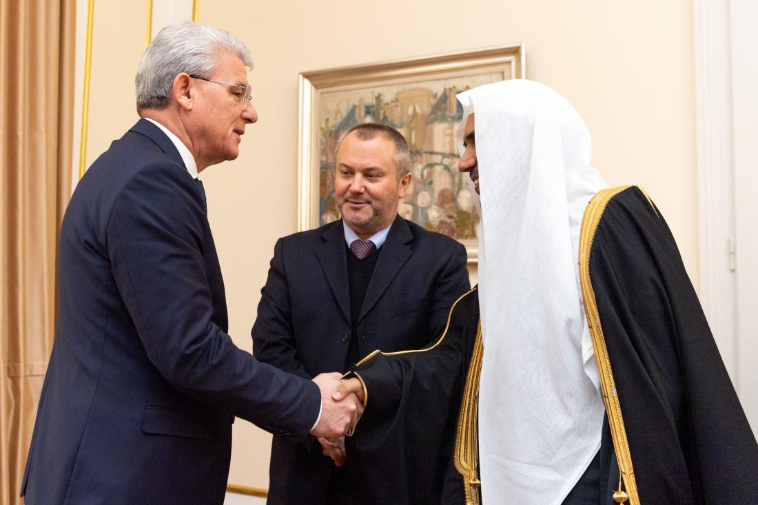 HE Dr. Mohammad Alissa was welcomed in Sarajevo by the president of Bosnia-Herzegovina
