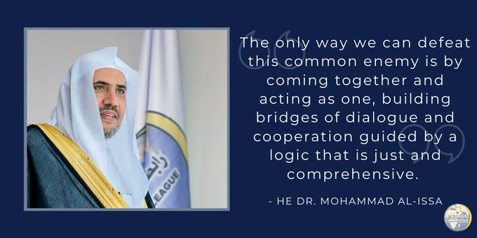 HE Dr. Mohammad Alissa : The only way we can defeat this common enemy is by coming together