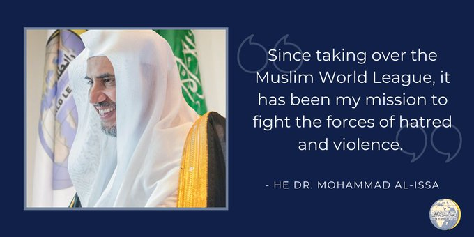 HE Dr. Mohammad Alissa's mission is always to combat the forces of hatred & violence